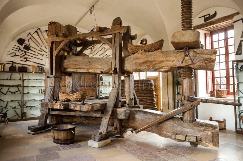 在Pommard的葡萄压榨机 免版税库存照片