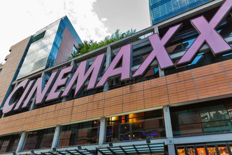 在Potsdamer platz财政区的Cinemaxx戏院 柏林德国 免版税库存图片