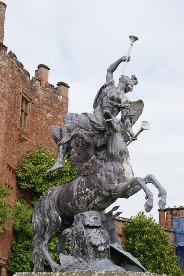 在Powis城堡,英国的雕象 免版税图库摄影