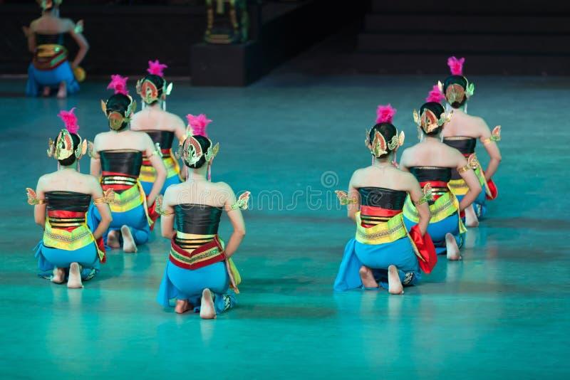 在Prambanan,印度尼西亚的Ramayana芭蕾 免版税库存图片