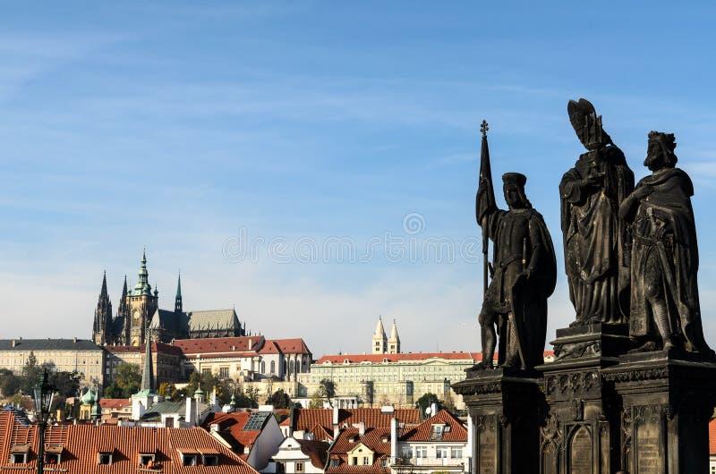 在prgaue的雕象 免版税库存照片
