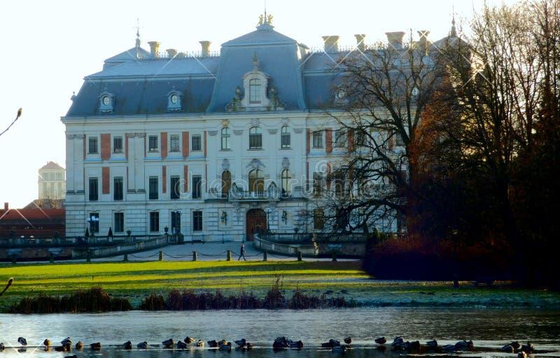 在Pszczyna的城堡 库存图片