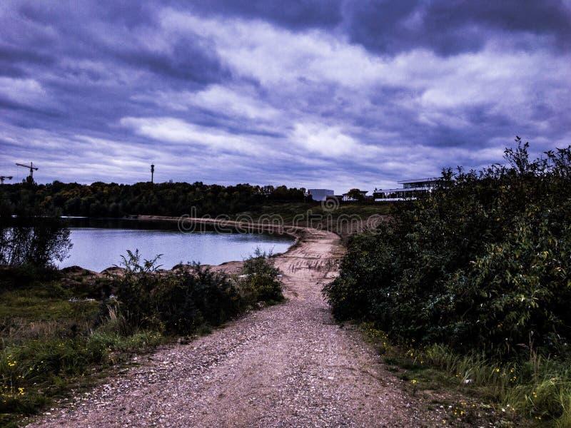 在pulheimer海的剧烈的场面在德国 库存照片