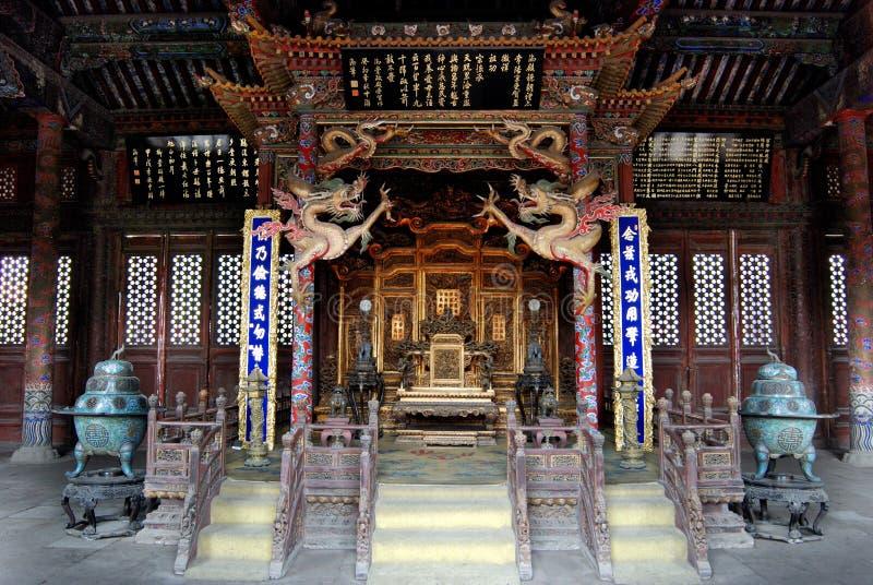 在qing的宫殿里面的chongzheng朝代 免版税库存照片