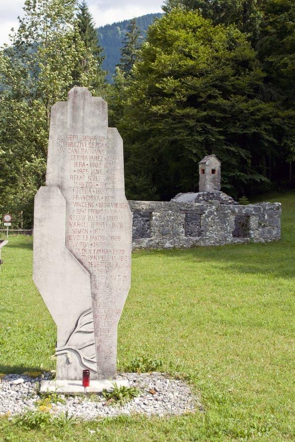 在Radovna的战争纪念碑 免版税库存图片