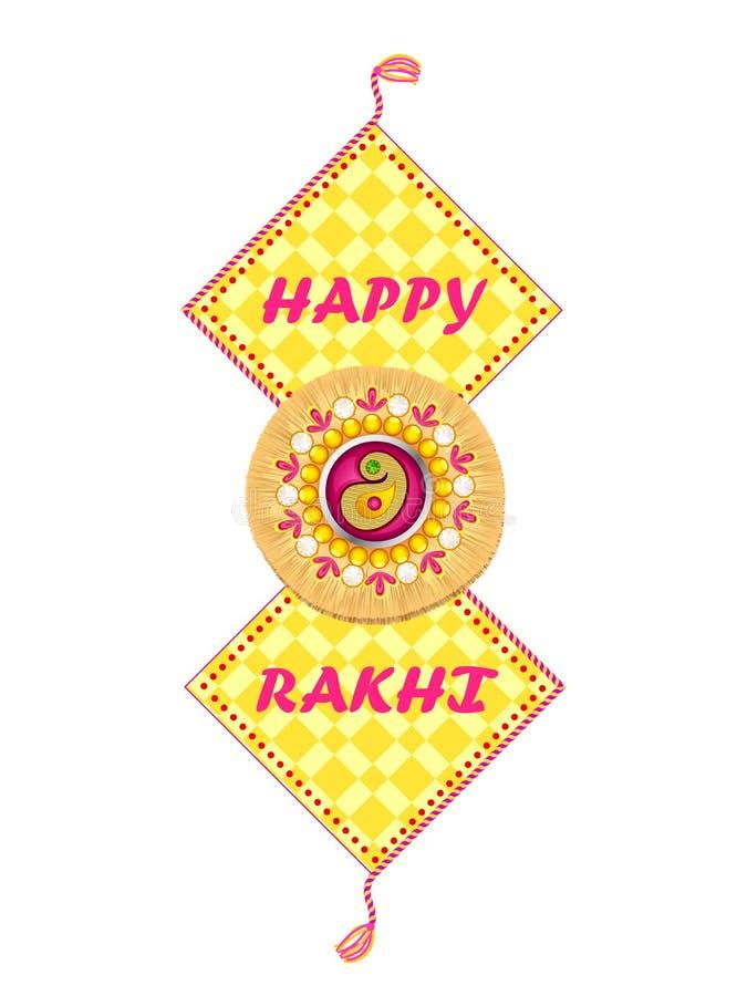在Raksha Bandhan背景的美丽的Rakhi 库存例证