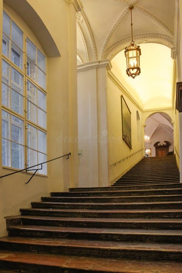 在Residenz的楼梯 萨尔茨堡 奥地利 库存照片