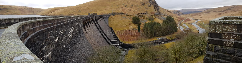 在rhayader的水坝 库存照片