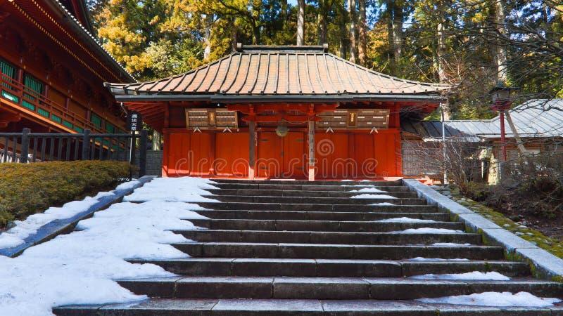 在Rinnoji寺庙,日光,日本的寺庙 库存照片