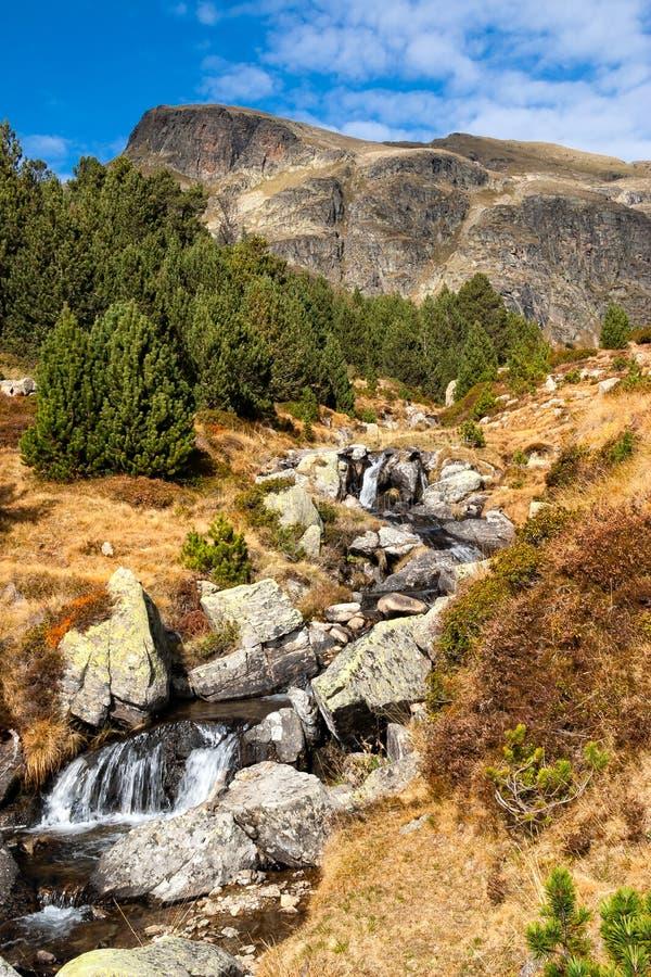 在Riu de Juclar的瀑布 库存照片