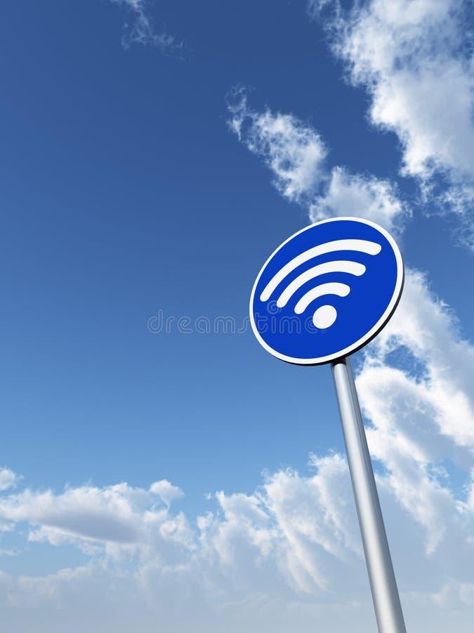 在roadsign的Wifi标志 图库摄影