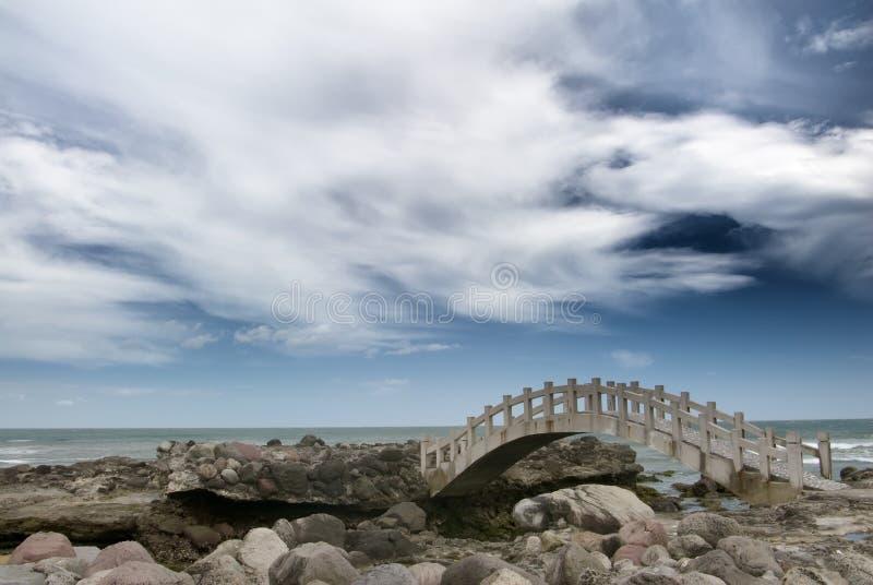 在rockland海运附近的桥梁 图库摄影