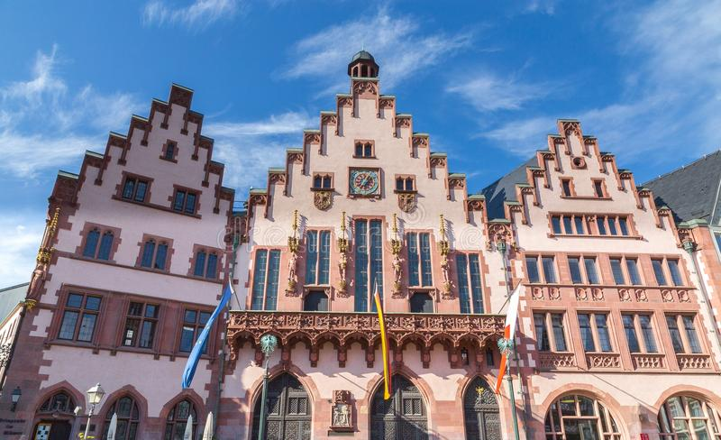 在Roemerberg的Roemer在法兰克福黑森德国 免版税库存照片