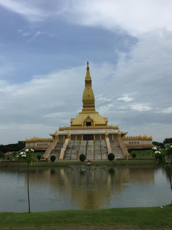 在Roi编辑泰国的寺庙视图 库存照片