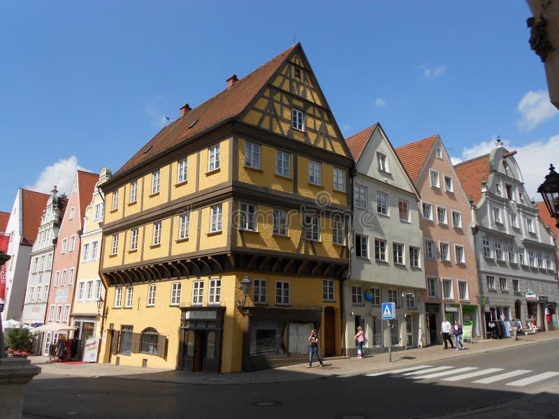 在Romantische Strasse,德国的Donauwoerth 免版税库存照片
