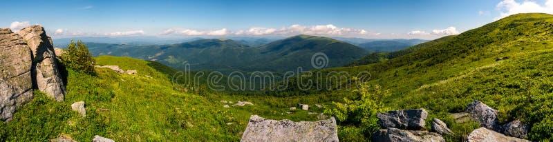 在Runa山的华美的全景风景 免版税库存照片