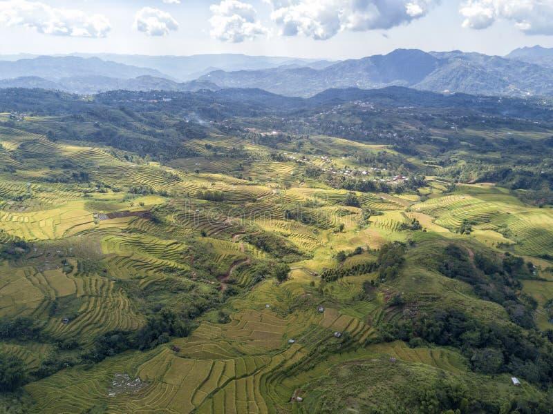 在Ruteng附近的空中Lanscape 免版税库存图片