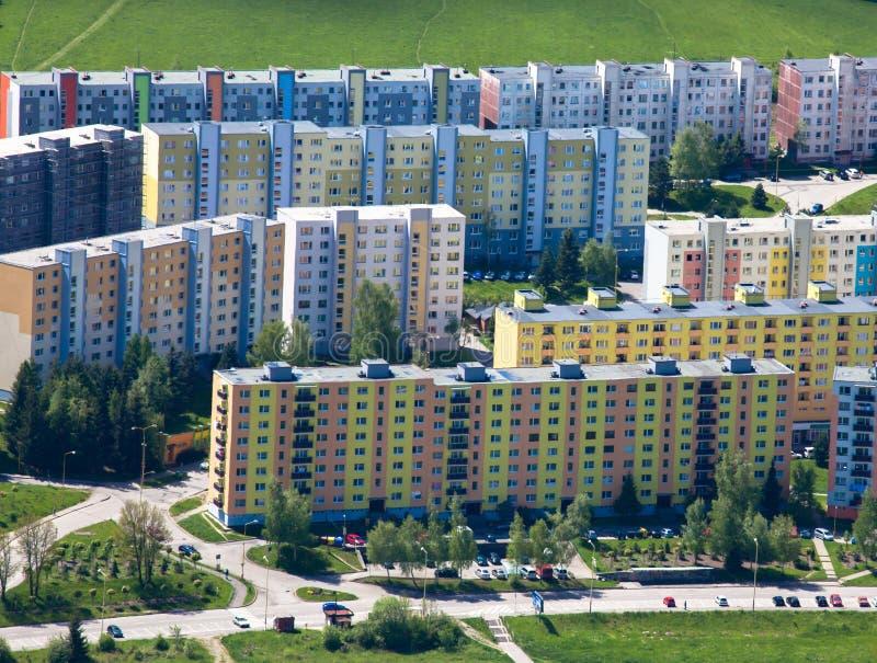 在Ruzomberok,斯洛伐克的住房开发 库存图片