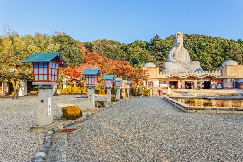在Ryozen Kannon的菩萨Avalokitesvara (Kannon)在京都 库存图片