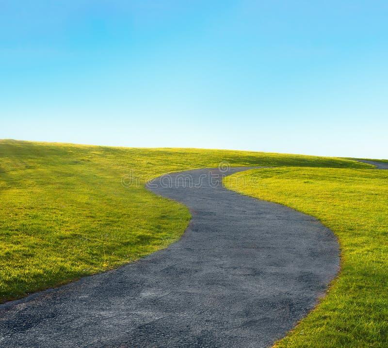 在s形状的曲线道路 图库摄影