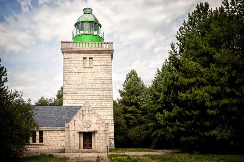 在Sainte延命菊的灯塔D ` Ailly 法国诺曼底 免版税库存照片