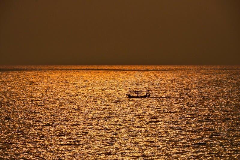 在Samed海岛的日落 图库摄影