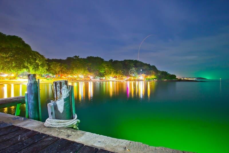 在Samed海岛的生活和晚上。 免版税库存图片