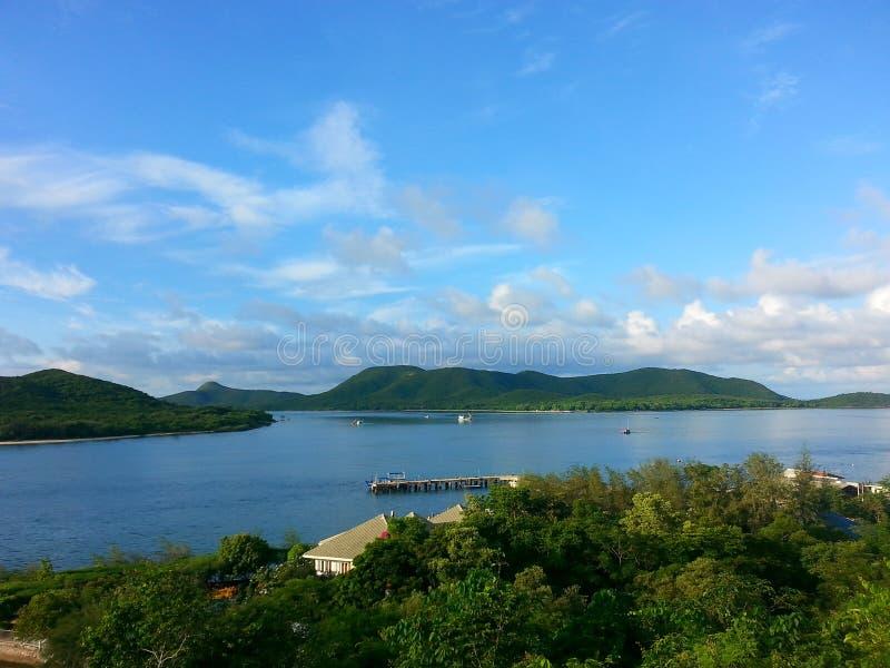 在samesan海岛的日落 库存照片