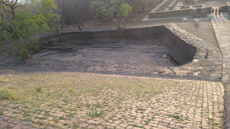 在sanchi世界遗产的佛教纪念碑 图库摄影