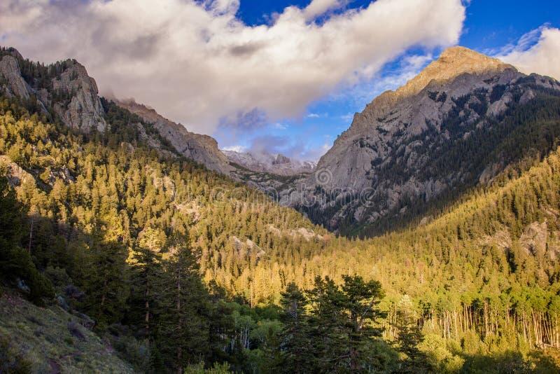在Sangre De克里斯多Mountains的挑战者点 库存照片
