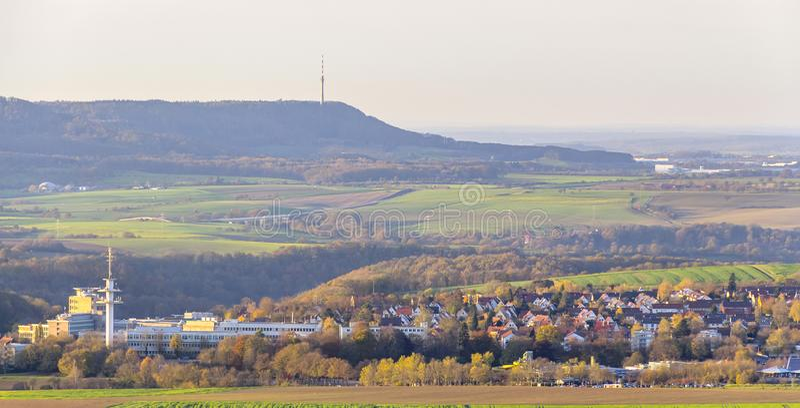 在Schwaebisch霍尔附近的Einkorn附近 免版税库存照片