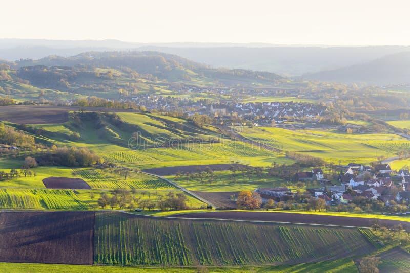 在Schwaebisch霍尔附近的Einkorn附近 库存图片