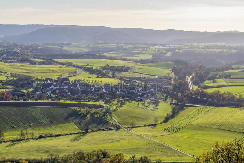 在Schwaebisch霍尔附近的Einkorn附近 库存照片