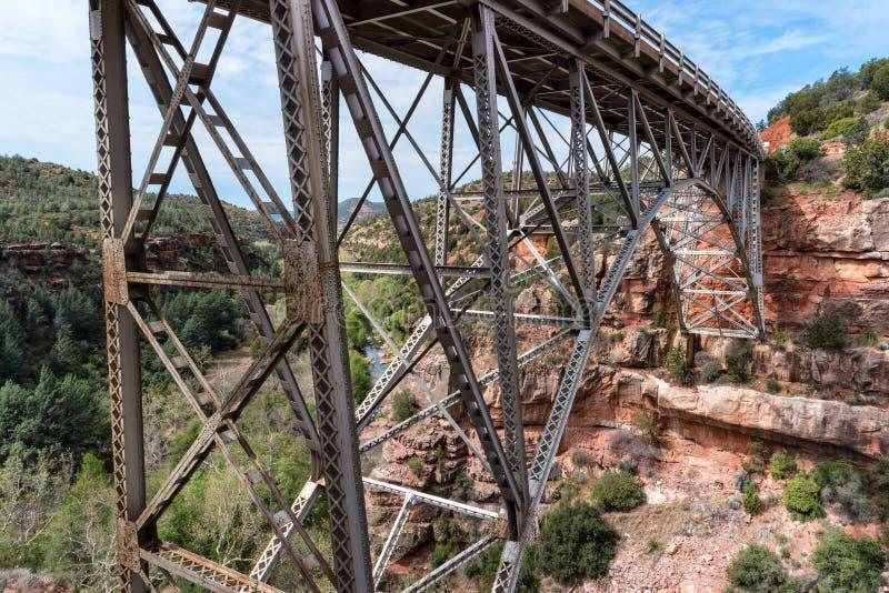 在Sedona,亚利桑那的Midgley桥梁 免版税库存图片