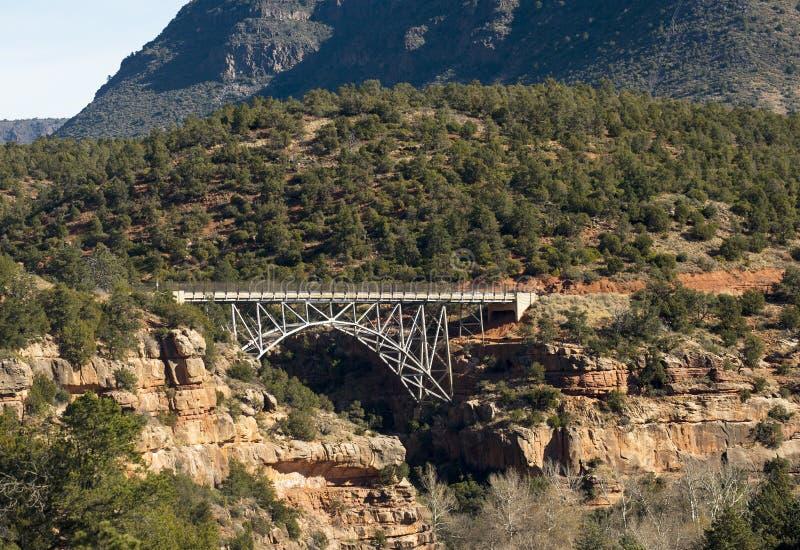 在Sedona,亚利桑那附近的Midgley桥梁 免版税库存照片