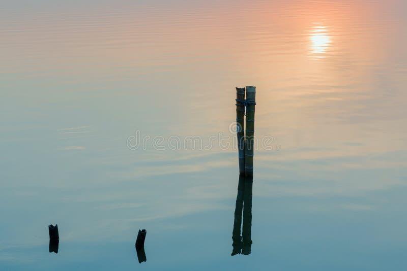 在setsun下的湖 库存图片