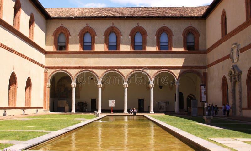 在Sfortza城堡,米兰的Museo Egizio 免版税库存照片