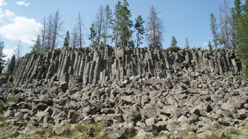 在Sheepeater峭壁的玄武岩专栏 免版税图库摄影