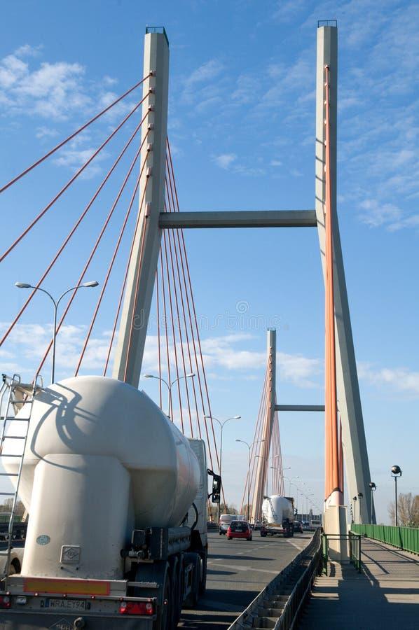 在Siekierowski索桥的坦克 免版税库存照片