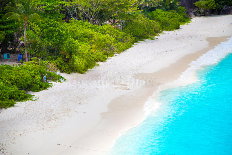 在similan海岛的愉快的时间 库存照片