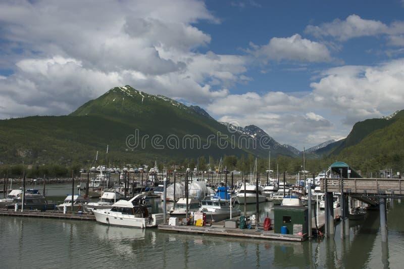 在skagway西北和平的段落里面的阿拉斯加 免版税库存照片