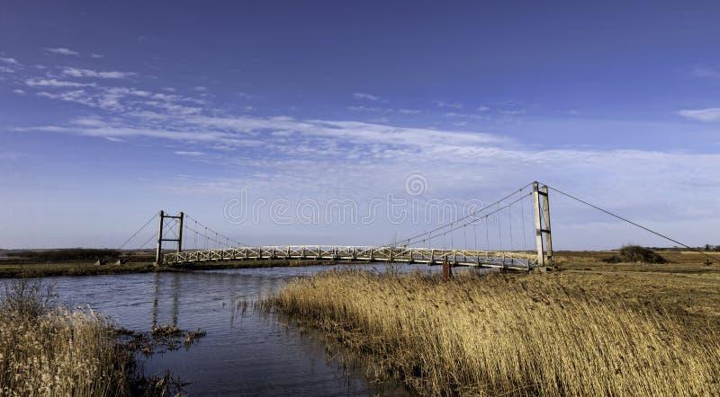在Skjern,丹麦附近的汉斯国王桥梁 库存图片