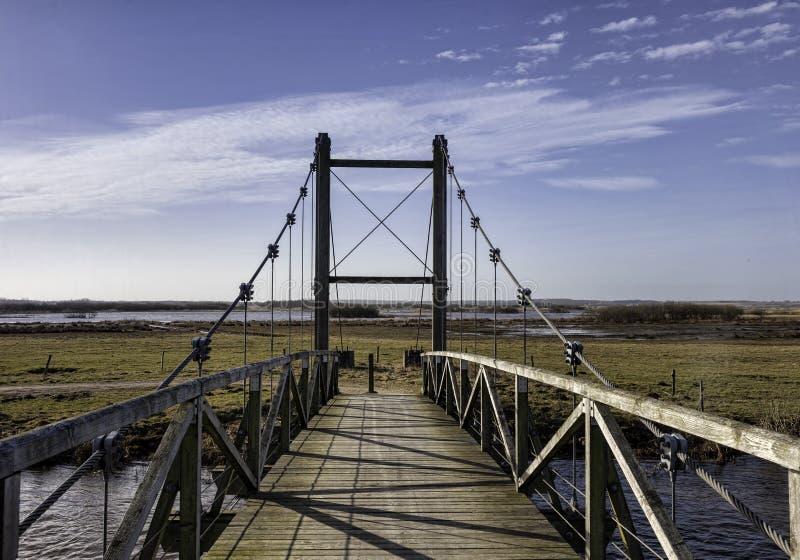 在Skjern,丹麦附近的汉斯国王桥梁 图库摄影
