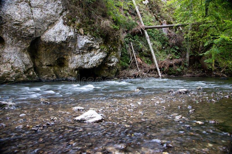 在Slovensky拉杰的河流程 免版税库存图片