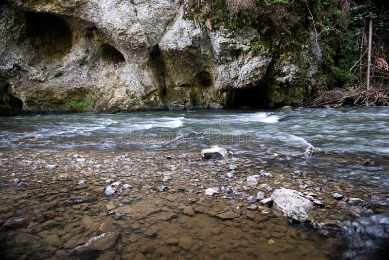在Slovensky拉杰的河流程 库存照片