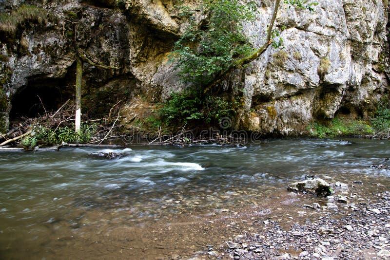 在Slovensky拉杰的河流程 免版税库存照片