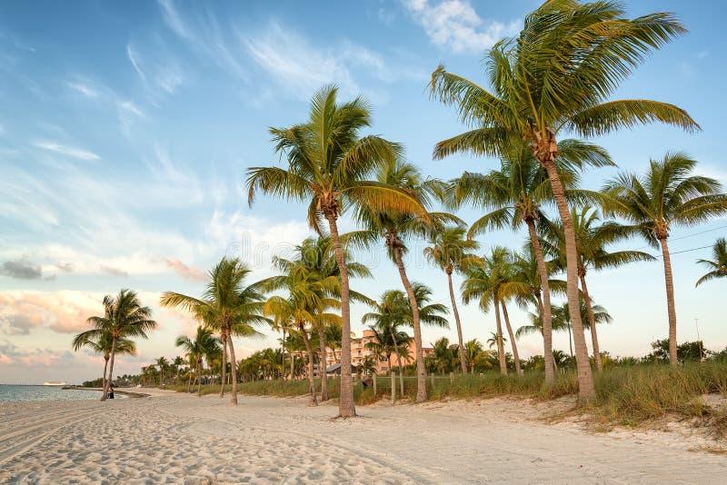 在Smathers海滩的日出 免版税库存图片