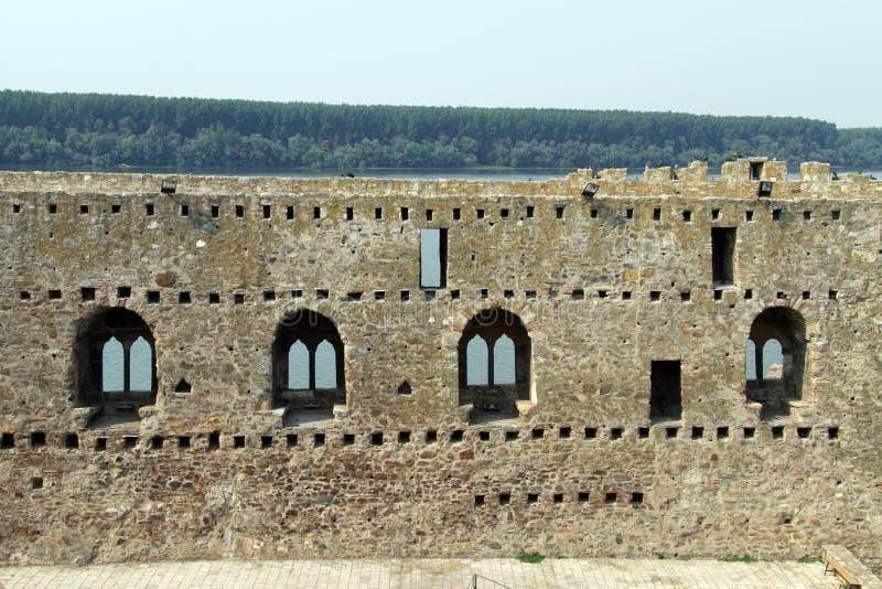 在Smederevo的墙壁 免版税库存照片