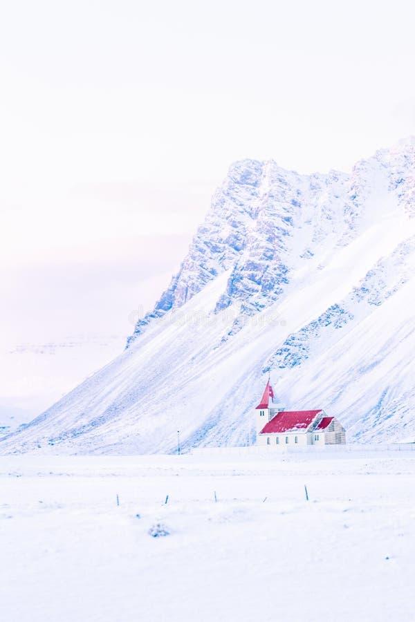 在Snaefellsnes半岛,冰岛的斯诺伊风景 库存图片