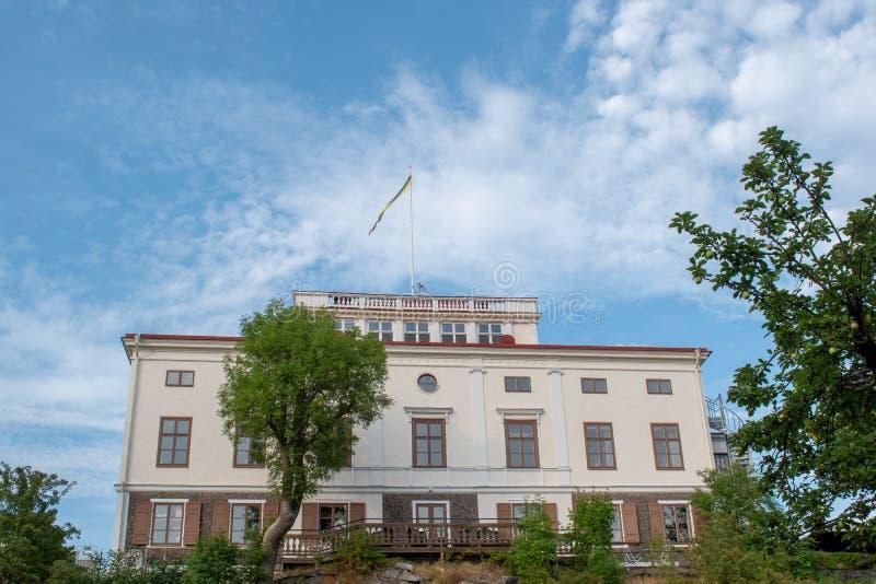 在Solna自治市,斯德哥尔摩,瑞典的Hufvudsta gÃ¥rd 免版税库存图片
